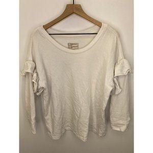 Current/Elliott 100% Cotton Crew Neck Sweater